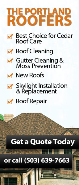 Roof Certification The Portland Roofers